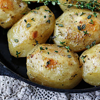 Roast Potatoes in a Cast Iron Skillet.
