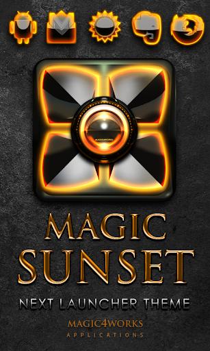 Next Launcher Theme Sunset