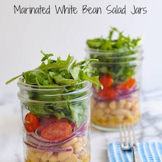 Marinated White Bean Salad Jars