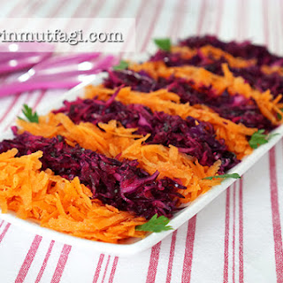 Purple Cabbage and Carrot Recipe Salad.