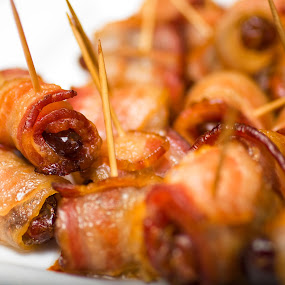 Bacon Wrapped Dates by Hiram Christian - Food & Drink Plated Food ( delicious baked bacon wrapped dates,  )