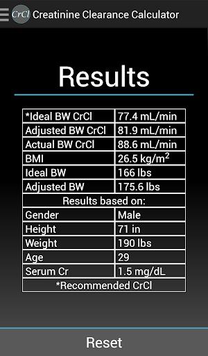 【免費醫療App】Creatinine Clearance Calc-APP點子