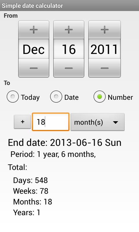 Date Calculator - Android Apps on Google Play