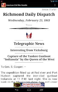 1863 Feb Am Civil War Gazette - screenshot thumbnail