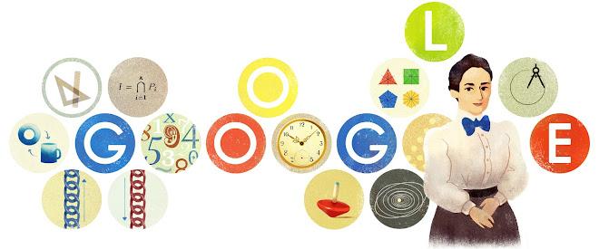 Λογότυπος Google για την 133η επέτειο γέννησης της Έμμυ Ναίτερ