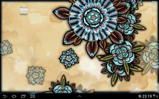 Tattoo Flowers Live Wallpaper