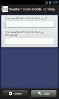 Screenshot of Southern Bank Mobile Banking