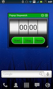 Popup Stopwatch- screenshot thumbnail