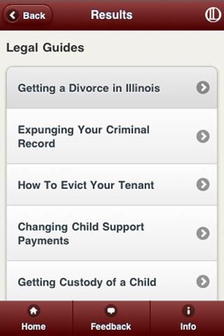 Illinois Legal Aid App- screenshot