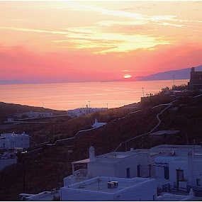 Sunset in Mykonos (Greece) by Sakis Prodigy - Landscapes Sunsets & Sunrises ( hellas, mykonos, greece, summer, sea, sun )