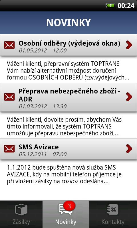 TOPTRANS CZ - screenshot