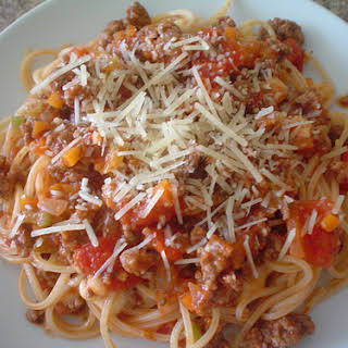 Bolognese Spaghetti and Meat Sauce.