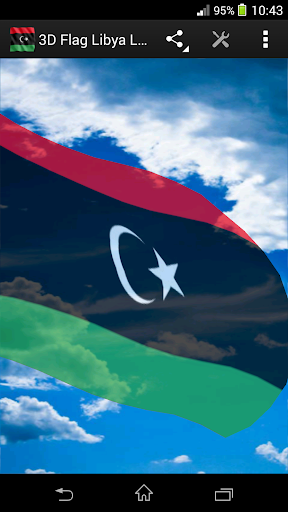3D Flag Libya LWP