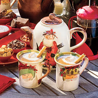 Hot Chocolate With Almond Liqueur.