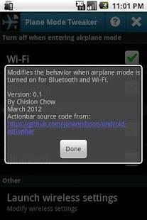 1 Plane Mode Tweaker App screenshot