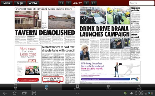 Wigan Evening Post - screenshot thumbnail