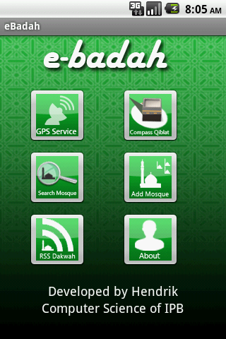 eBadah Mosque Nearest Route