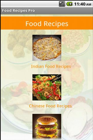 Food Recipes - screenshot