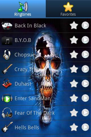 Heavy Metal Ringtones - screenshot