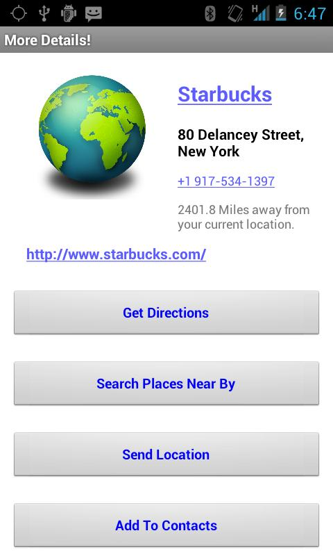 Destination Finder - screenshot