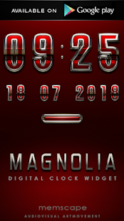 玩生活App|MAGNOLIA Luxury Clock Widget免費|APP試玩