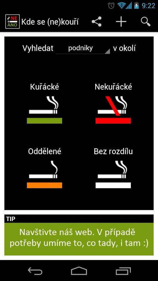 Kde se (ne)kouří - screenshot