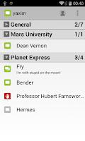Screenshot of yaxim - XMPP/Jabber client