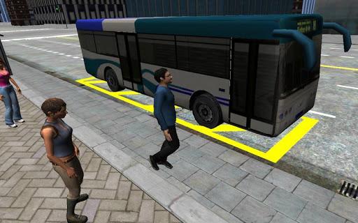 3D市街地走行 - バス駐車場