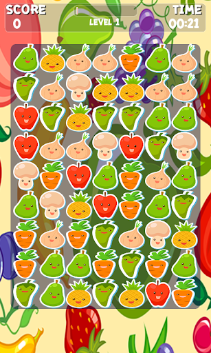 Fruits And Vegetables Match 3