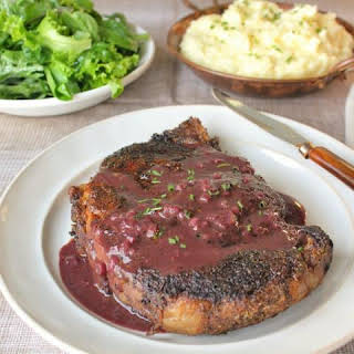 Bone-in Rib-eye Steak With Marchand Du Vin Sauce.
