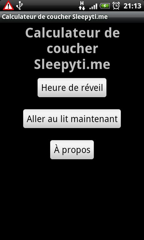 Sleepytime- screenshot