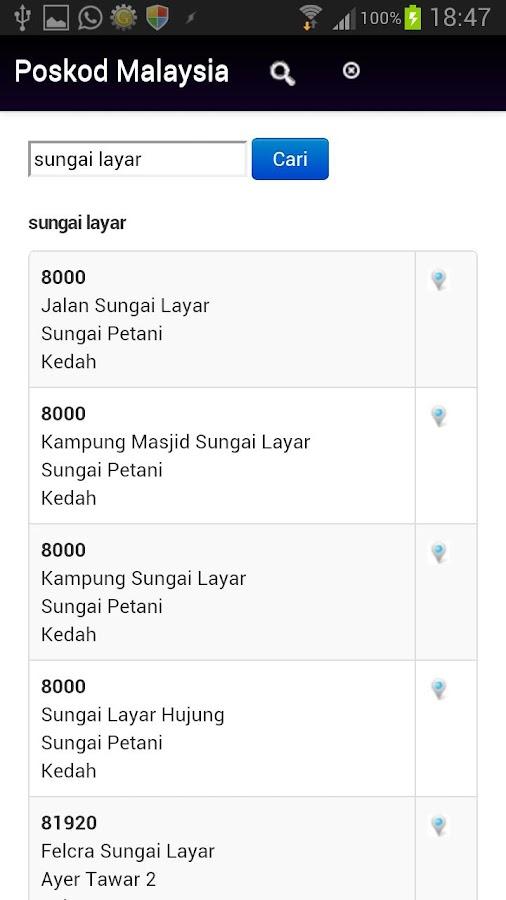 Poskod Malaysia - screenshot