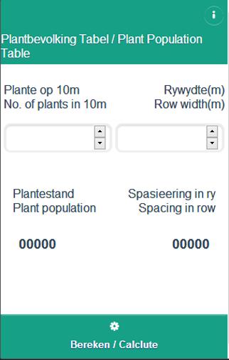 Plantbevolking Tabel