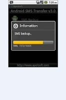 Screenshot of SMS Backup for Andriod
