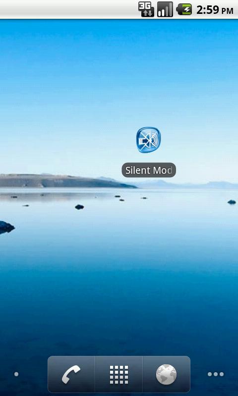 Silent mode - screenshot