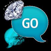 GO SMS - Turquoise Diamonds