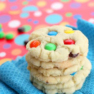 Chewy M&M Sugar Cookies.