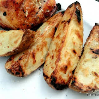 Grilled Potato Wedges - A Low Fat Substitute For French Fries.