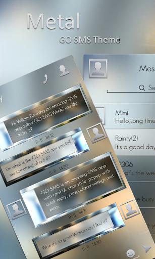 GO SMS METAL THEME