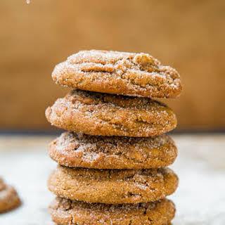 Soft Molasses Coconut Oil Crinkle Cookies.