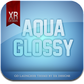 Glass Aqua GO Launcher theme