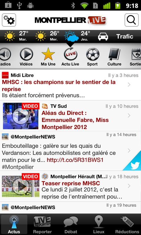 Montpellier Live - screenshot