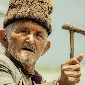 Aged  by Suman Sengupta - People Street & Candids ( raw, street, candid, ravangla, eyes, aged, motionstopper, rawshooter, india, nikon, sumansengupta, sikkim, man )