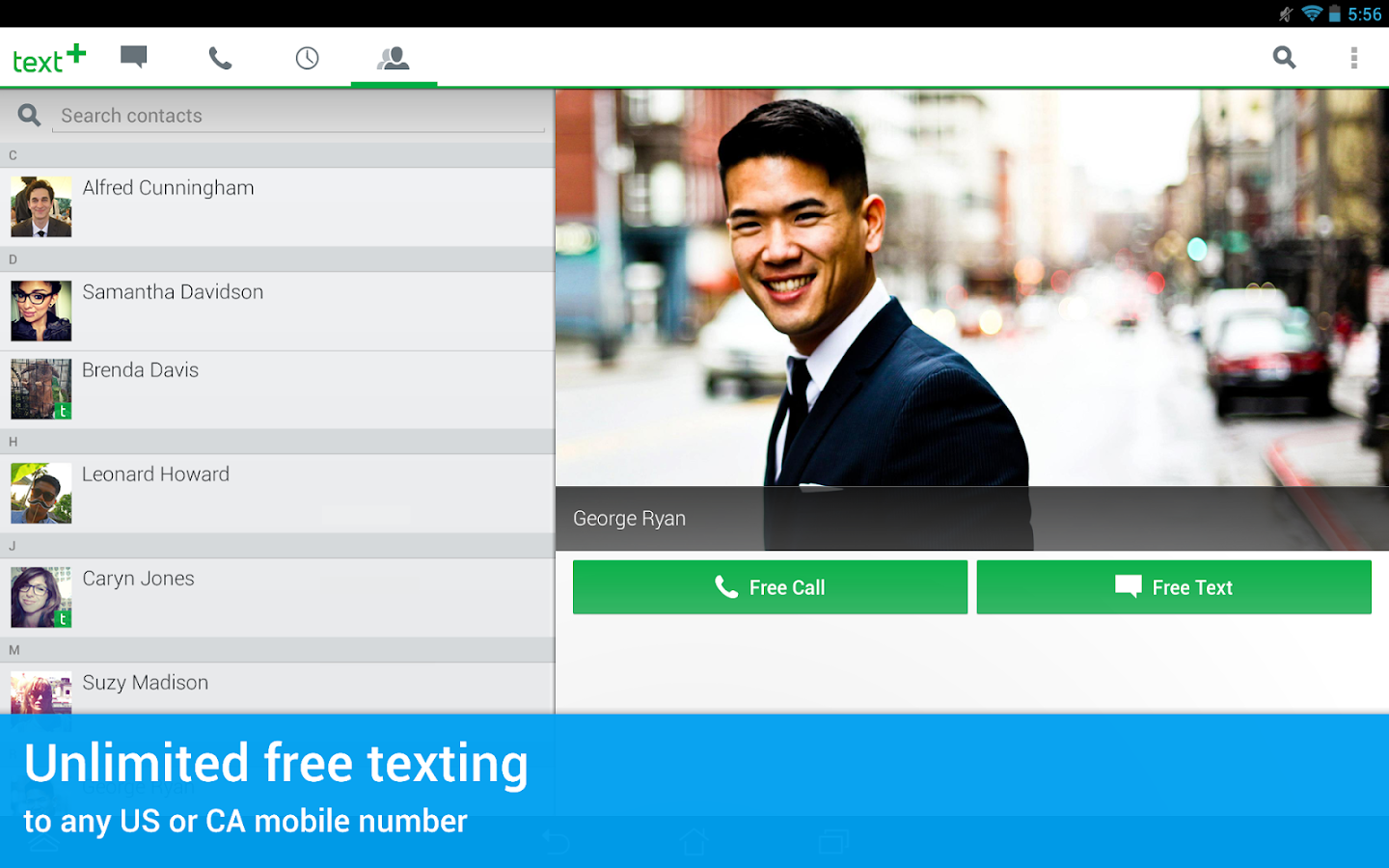 textPlus Gold Free Text+Calls- screenshot