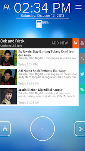 Cek and Ricek - Start RSS - screenshot thumbnail