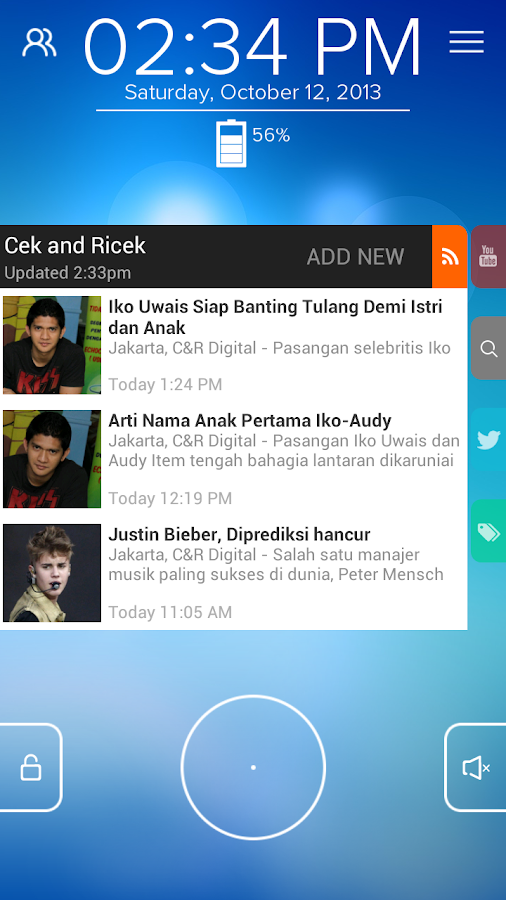 Cek and Ricek - Start RSS - screenshot