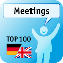 100 Meetings Success Phrases logo