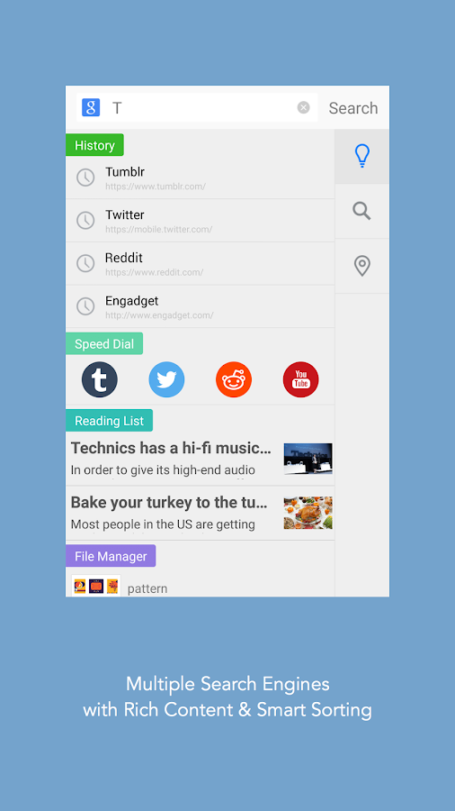 Mercury Browser for Android - screenshot