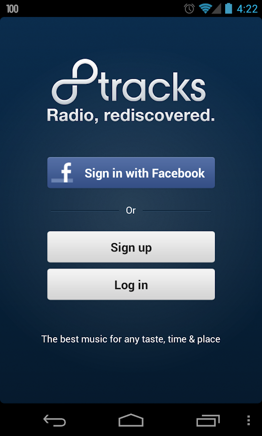 8tracks radio - screenshot