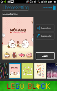 Molang Teatime Atom Theme - screenshot thumbnail